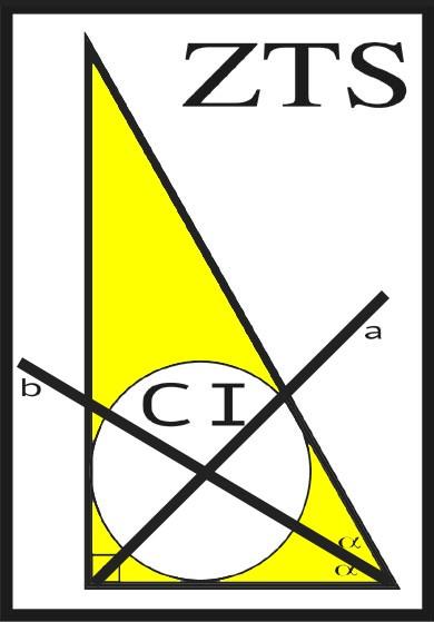 """FIGURA 3. Aspecto esquemático da zona triangular de segurança (ZTS): círculo inscrito (CI) e retas bissetriz """"a"""""""